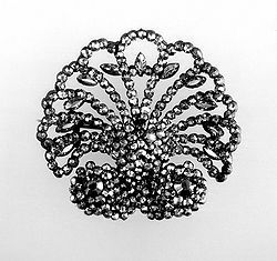 Scallop Shaped Cut-Steel Brooch.   © The Trustees of the British Museum.
