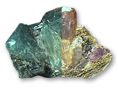 Here is a natural Alexandrite specimen from the Ural mountains. This one is a spectacular true green and lavender.