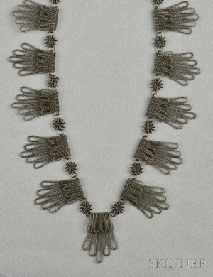 A 'Silesian Ironworks' Festoon Necklace. Skinner Auctions.