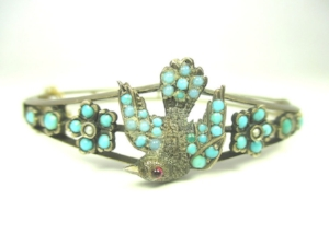 This late Victorian bracelet was made using a cast as well as being hand-set with stones.