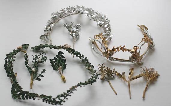 Paper antique myrtle crowns. Elder and Bloom