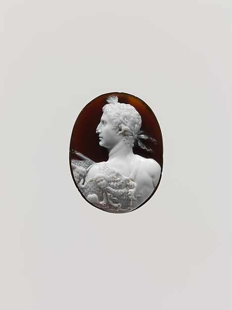 Sardonyx cameo portrait of the Emperor Augustus. British Museum.