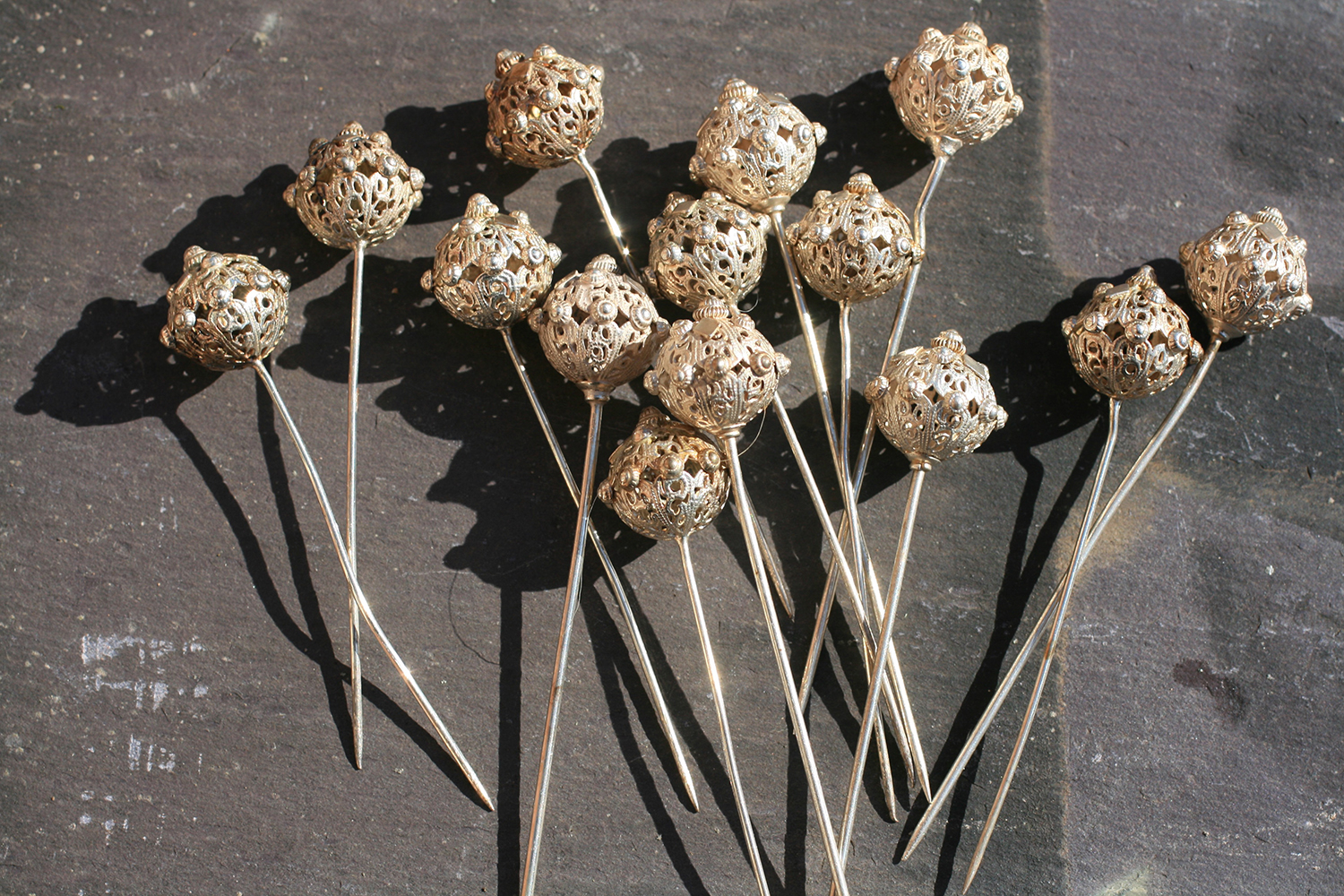 Victorian One Point Hair Pins. Currently for sale at Elder & Bloom.