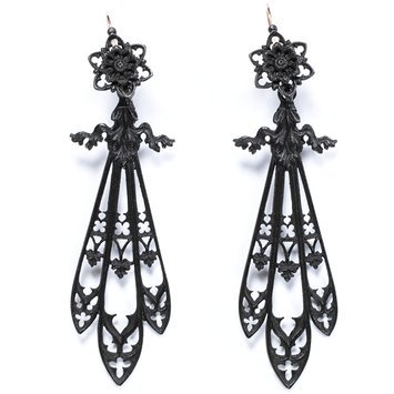 Germany, Cast iron earrings. c. 1820-1830 V&A Museum