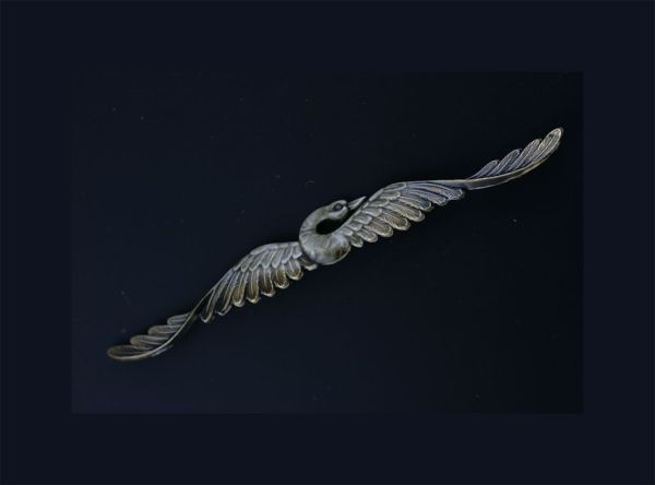 Late Victorian Swan Brooch. Previously for sale by Elder and Bloom.