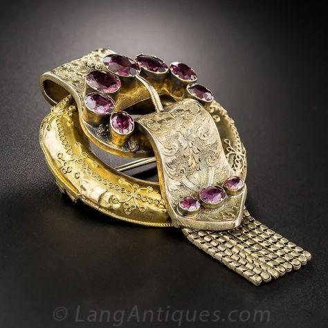 Garter Motif brooch. Source, Lang Antiques.