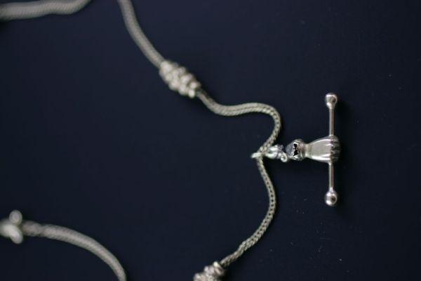 Victorian Hand Motif Necklace / Watch Chain. Elder and Bloom.