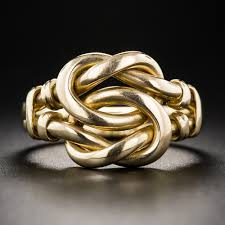 Victorian Lover's Knot Ring. Lang's Antiques.