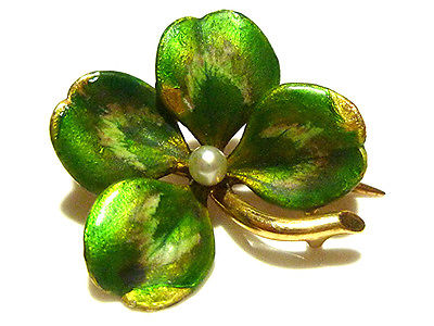 Victorian Four-Leaved Clover Brooch. Source: Ebay