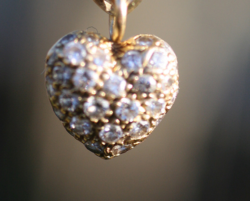 Cartier Diamond Pave Heart Pendant. Elder & Bloom  The diamond pave puffy heart by Cartier is an iconic design.