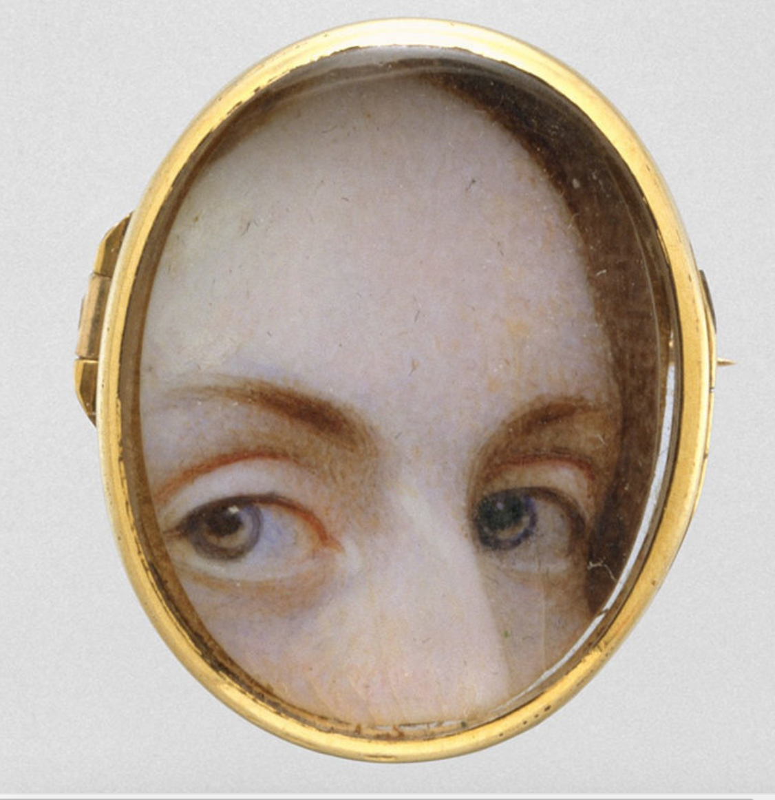 A miniature watercolor on ivory from c. 1840.  METROPOLITAN MUSEUM OF ART/ PUBLIC DOMAIN