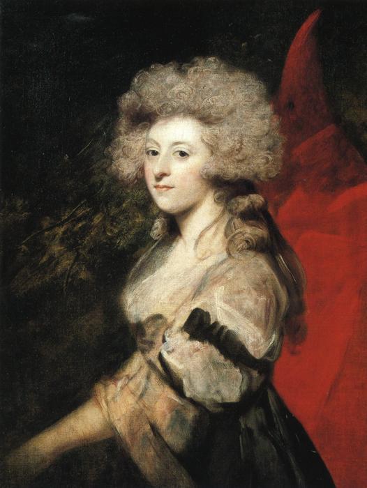 Maria Fitzherbert, (1756–1837), circa 1788.  PUBLIC DOMAIN
