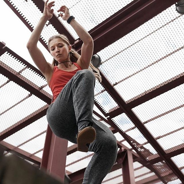 """➰GIVEAWAY➰ If you've ever seen parkour in a video or movie and thought """"That looks fun… but I don't want to kill myself"""", this giveaway for adult parkour fitness classes is for you! All fitness levels welcome. Get a great workout AND cool superhero moves 👊. Win-win! We're partnering with @getwildlyfit to give 3️⃣ lucky winners 3️⃣ classes each. Use them all yourself OR share with friends. To enter: 1️⃣Like this post 2️⃣Make sure you're following @hudsoncounty60 and @getwildlyfit  3️⃣Tag a friend in the comments. For bonus entries tag more friends in separate comments. Giveaway ends Friday at 12pm. Winner will be picked at random. 📷 by @andrewobenreder  #hudsoncounty #parkour #jerseycitylocal #jerseycityfitness #workoutroutine #parkourtraining"""