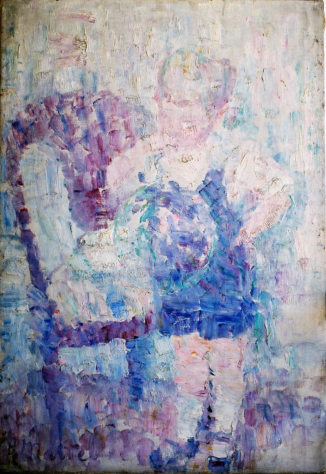 """Bubble Boy"" !920-Oil on Canvas 14 1/2"" x 10 3/4"""