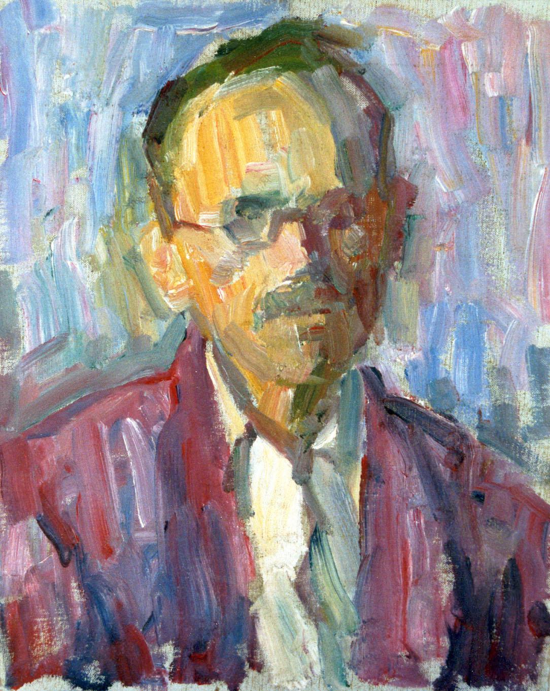 """Self Portrait"" Circa 1943 19 7/8"" x 15 7/8"""