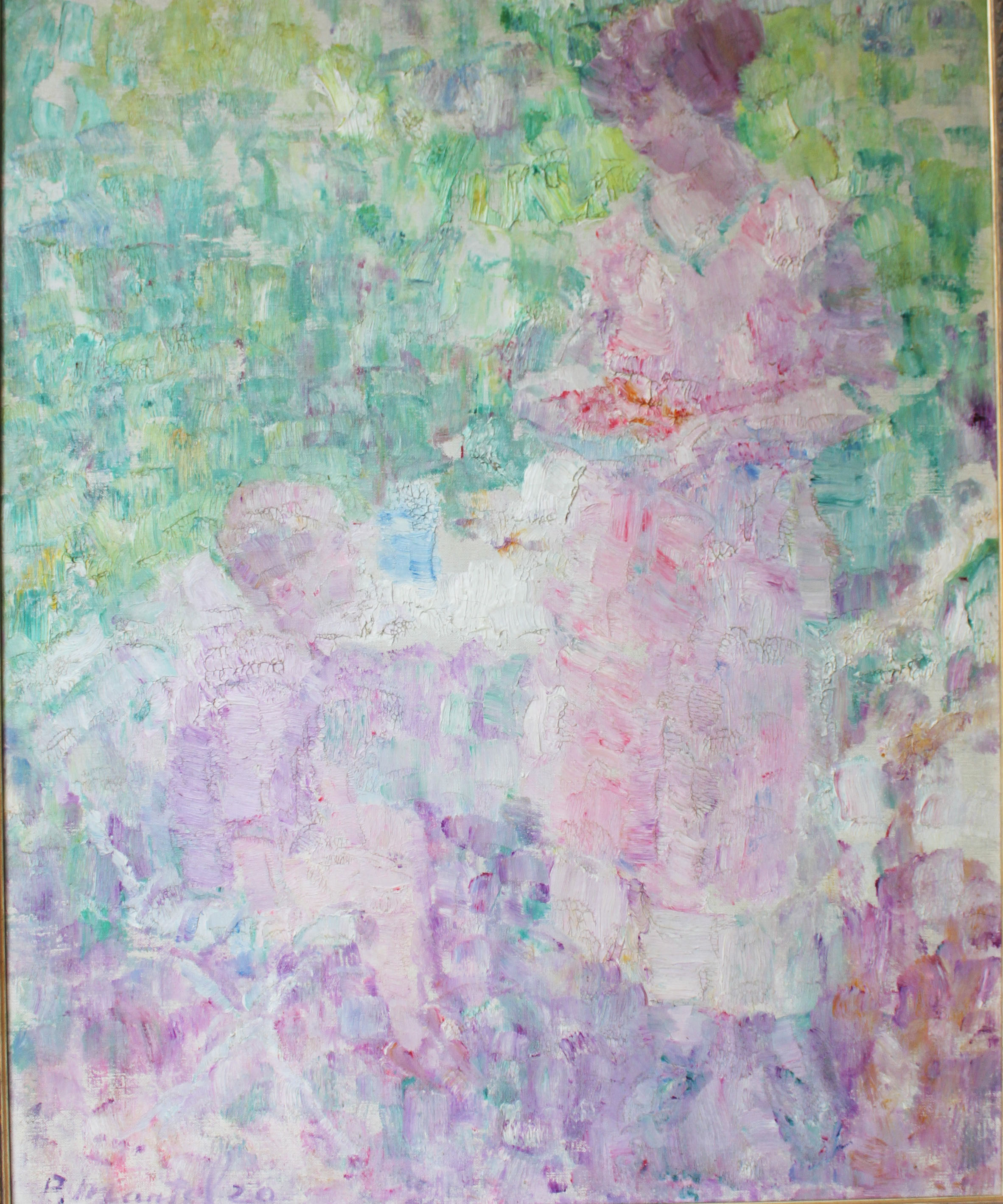 """""""Strawberries for Child"""" 1920-Oil on Canvas 35"""" x 28 1/2"""""""