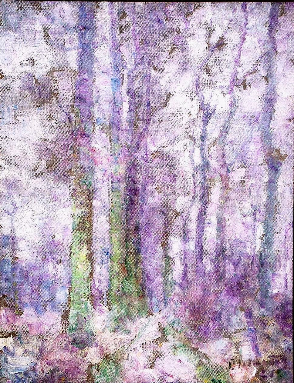 """Purple Forest"" 1921- Oil on Canvas 30 1/2"" x 23"""