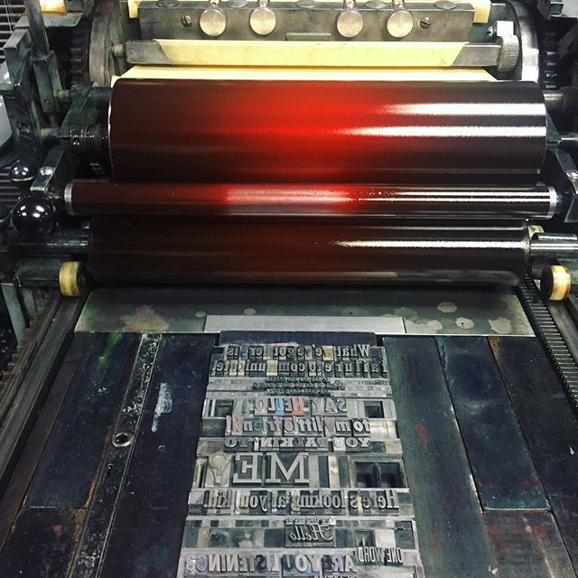 Hello you beautiful letterpress. It's been awhile but I've missed you!