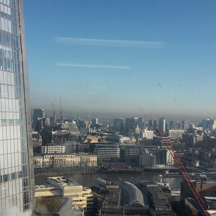 The view from the waiting room at Guy's Hospital next to The Shard