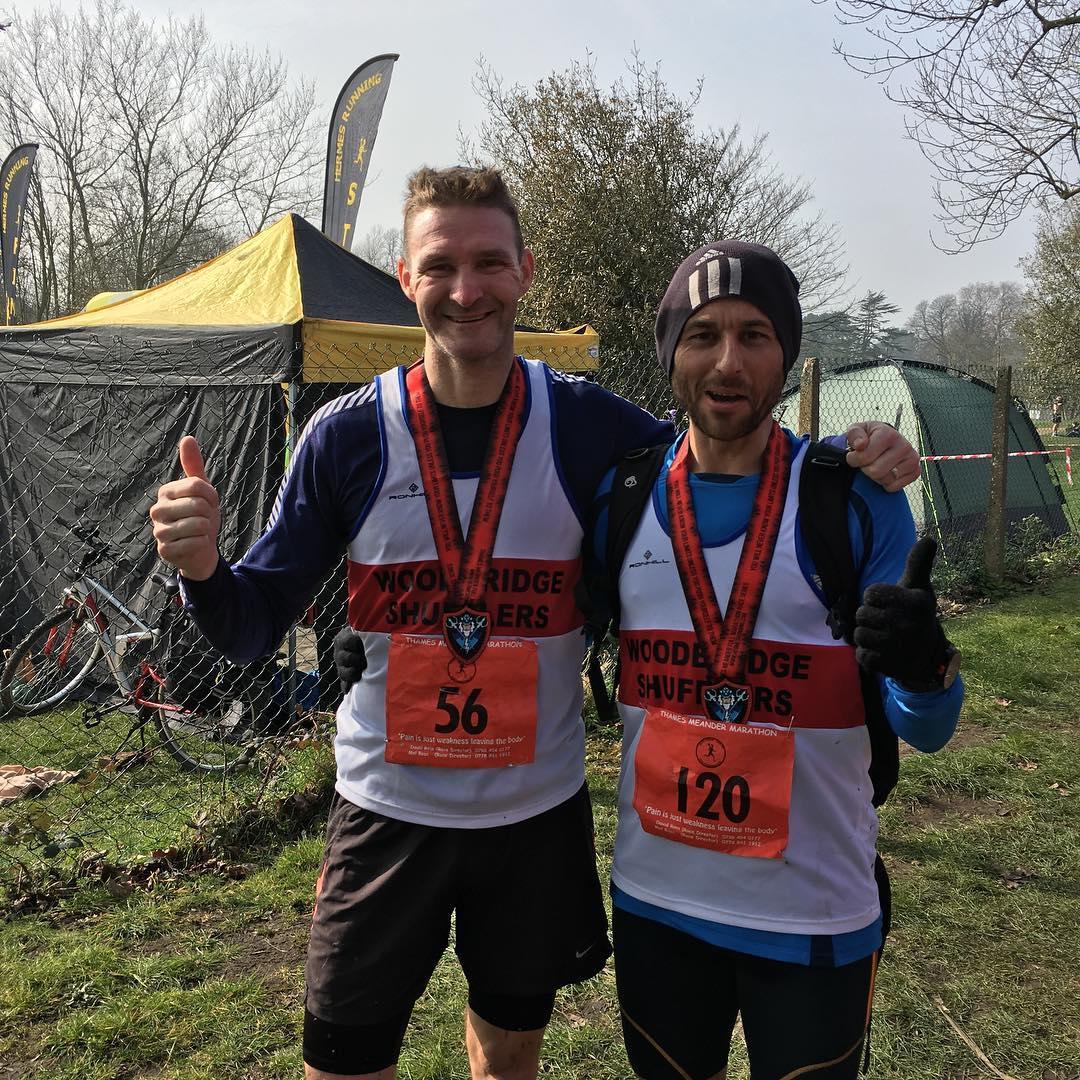 Ian and Matt after their cracking run of 3:13.