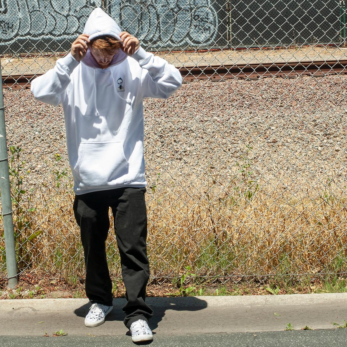 Blind Skateboards OG reaper apparel jordan maxham hoody sweatshirt white