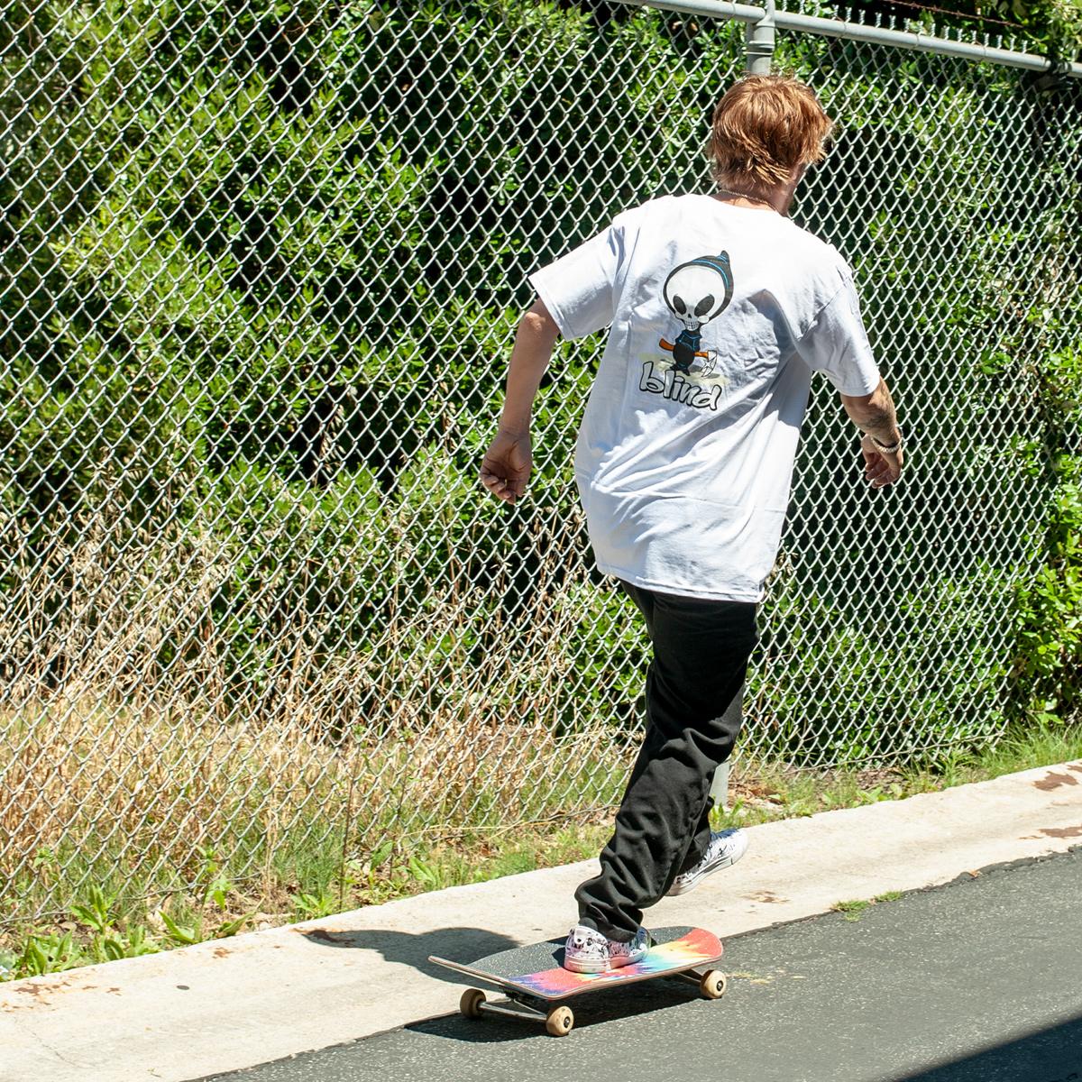 Blind Skateboards OG reaper apparel jordan maxham tee t-shirt white