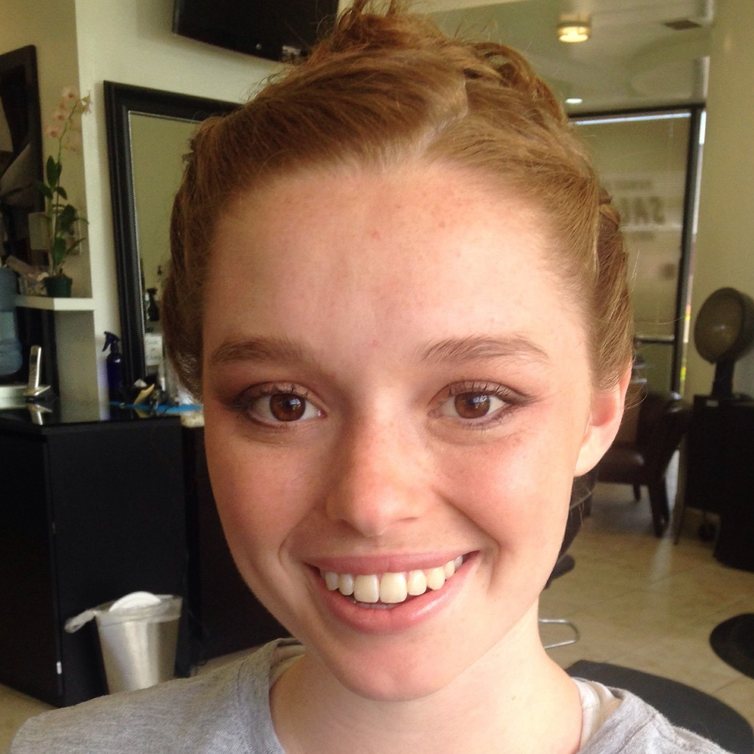 Natural Makeup for Redhead Bride by Ventura Makeup Artist Glory Munoz