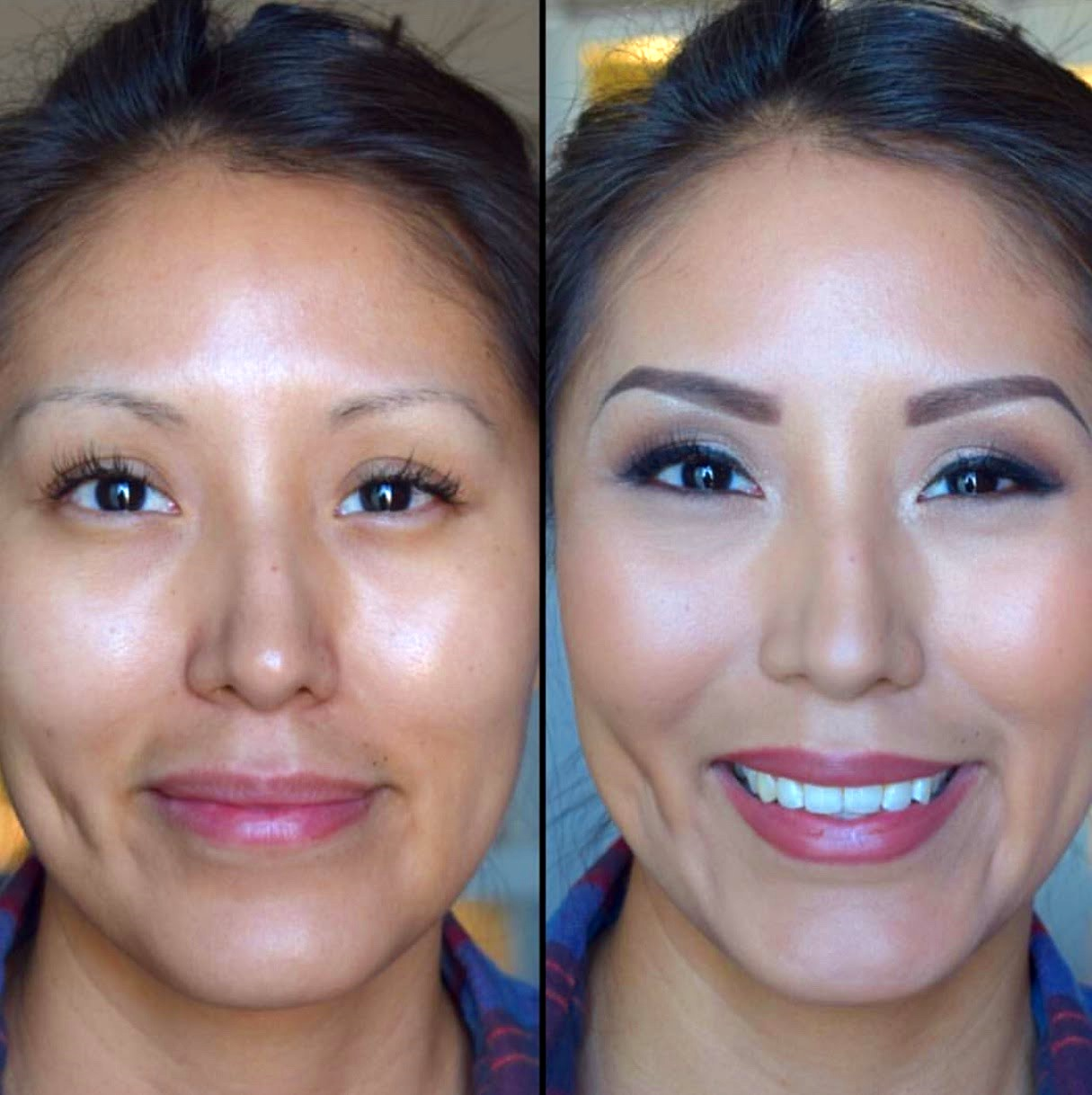 Natural Wedding Makeup for Brown Eyes by Ventura Makeup Artist Glory Munoz