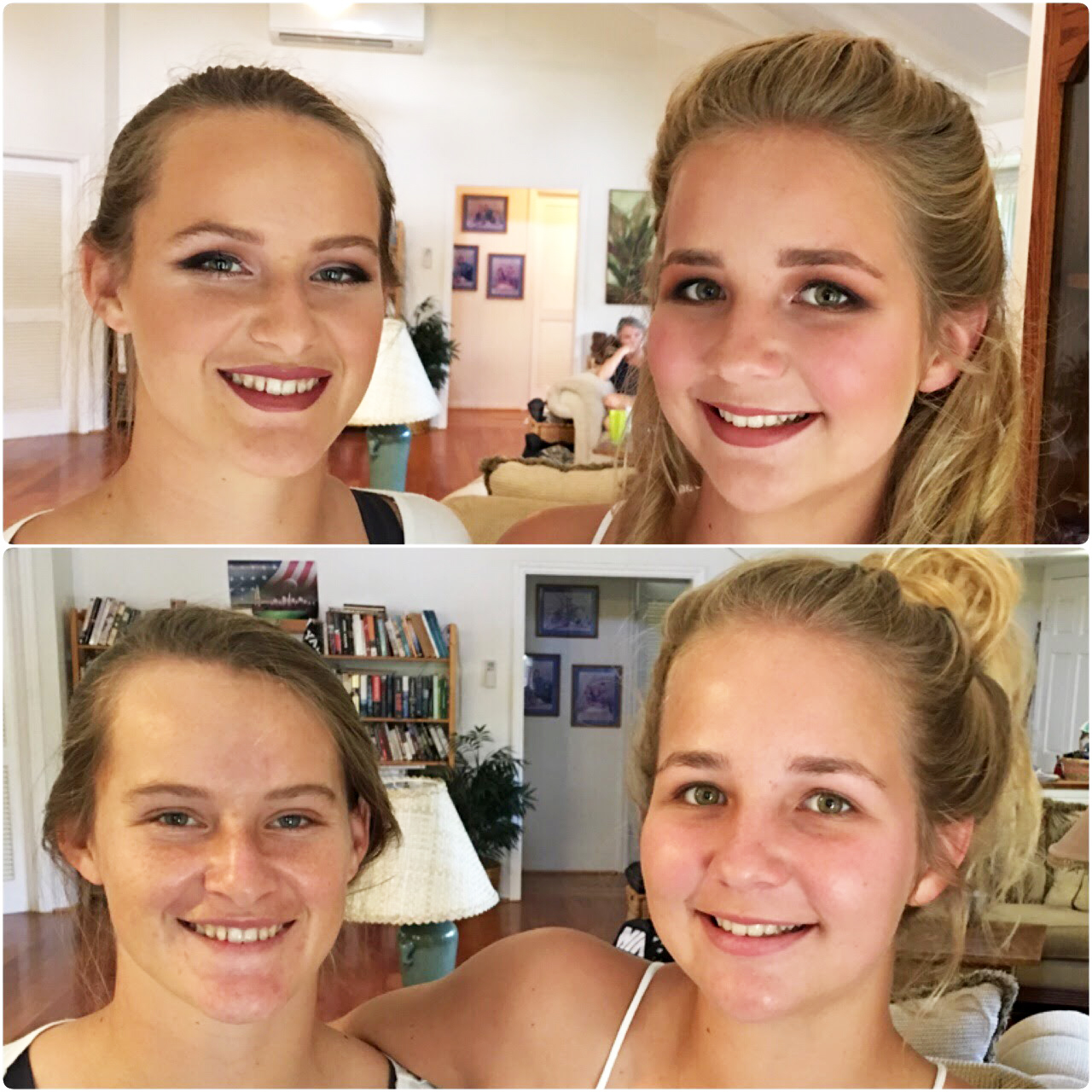 Natural Prom Makeup before and after by Ventura Makeup Artist Glory Munoz