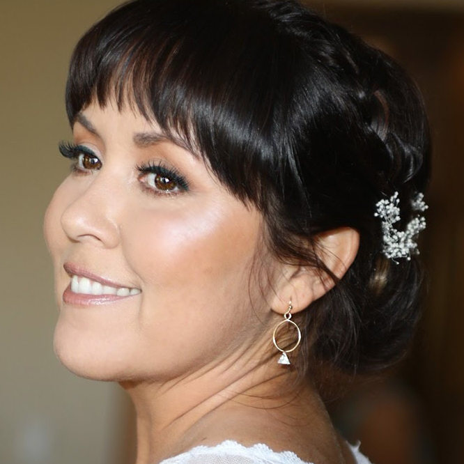 Natural Bridal Makeup for Brown Eyes by Ventura Wedding Makeup Artist Glory Munoz