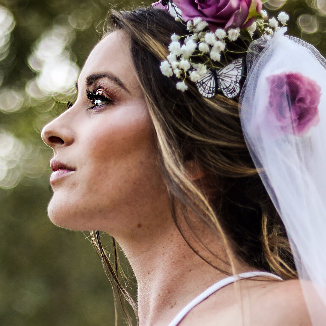 Natural Wedding Makeup for Boho Bride by Ventura Wedding Makeup Artist Glory Munoz