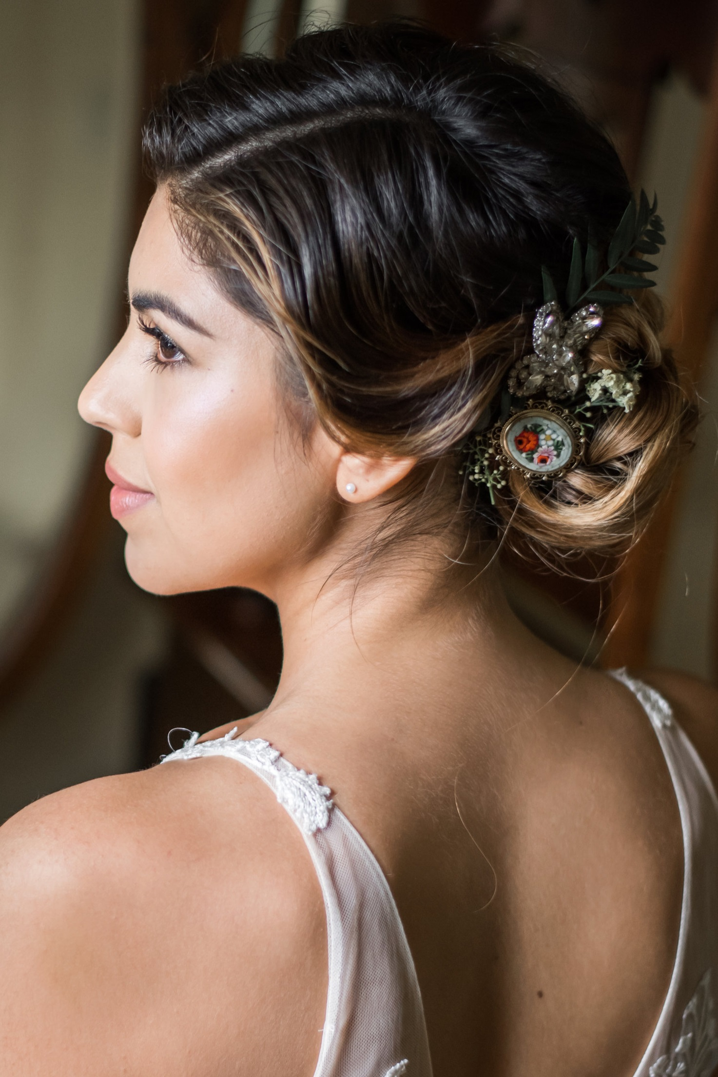 Natural Wedding Makeup Look for Vintage Styled Bride by Ventura Makeup Artist Glory Munoz