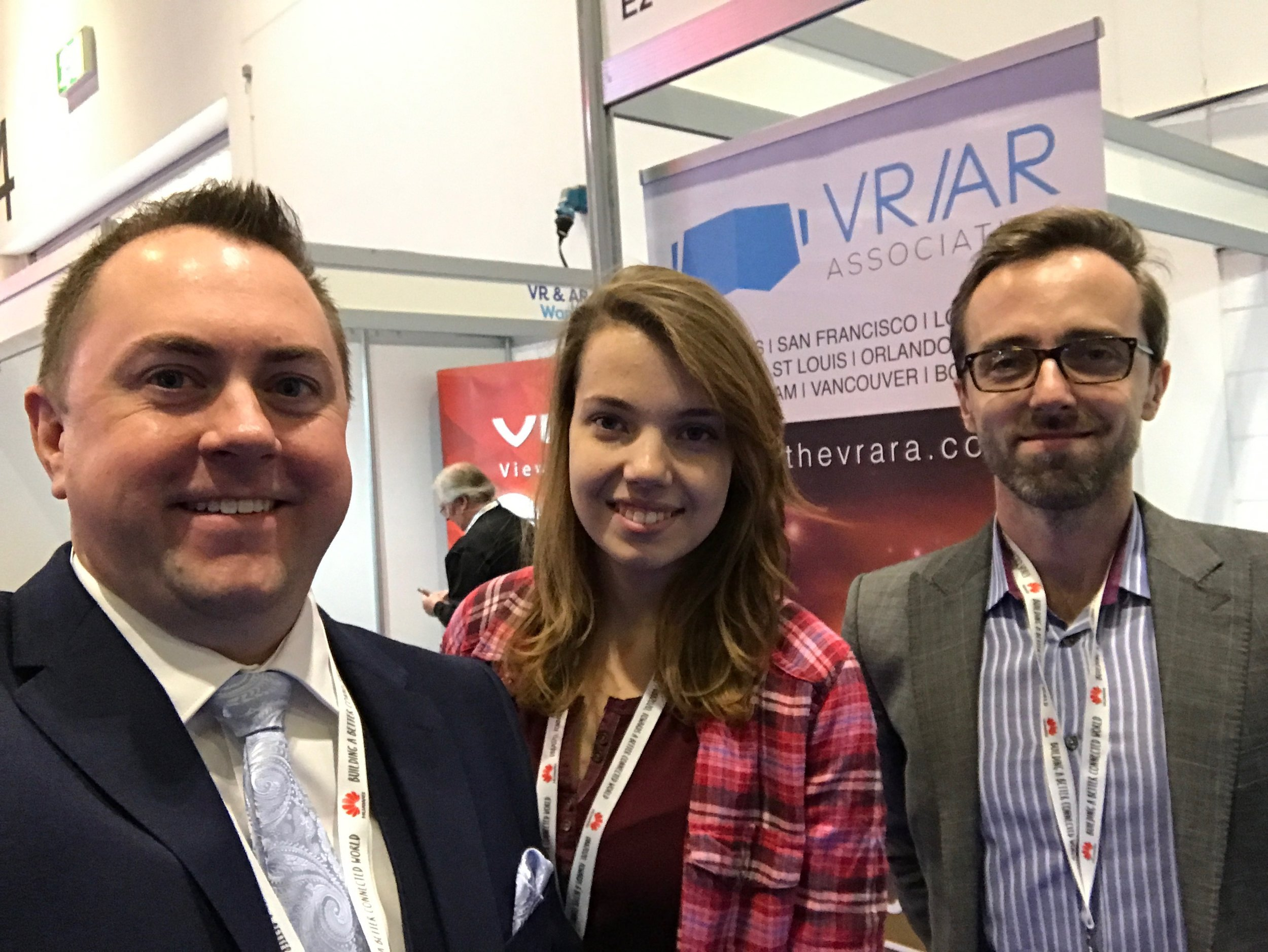 Nathan, Ana, and Kris at the VRARA booth