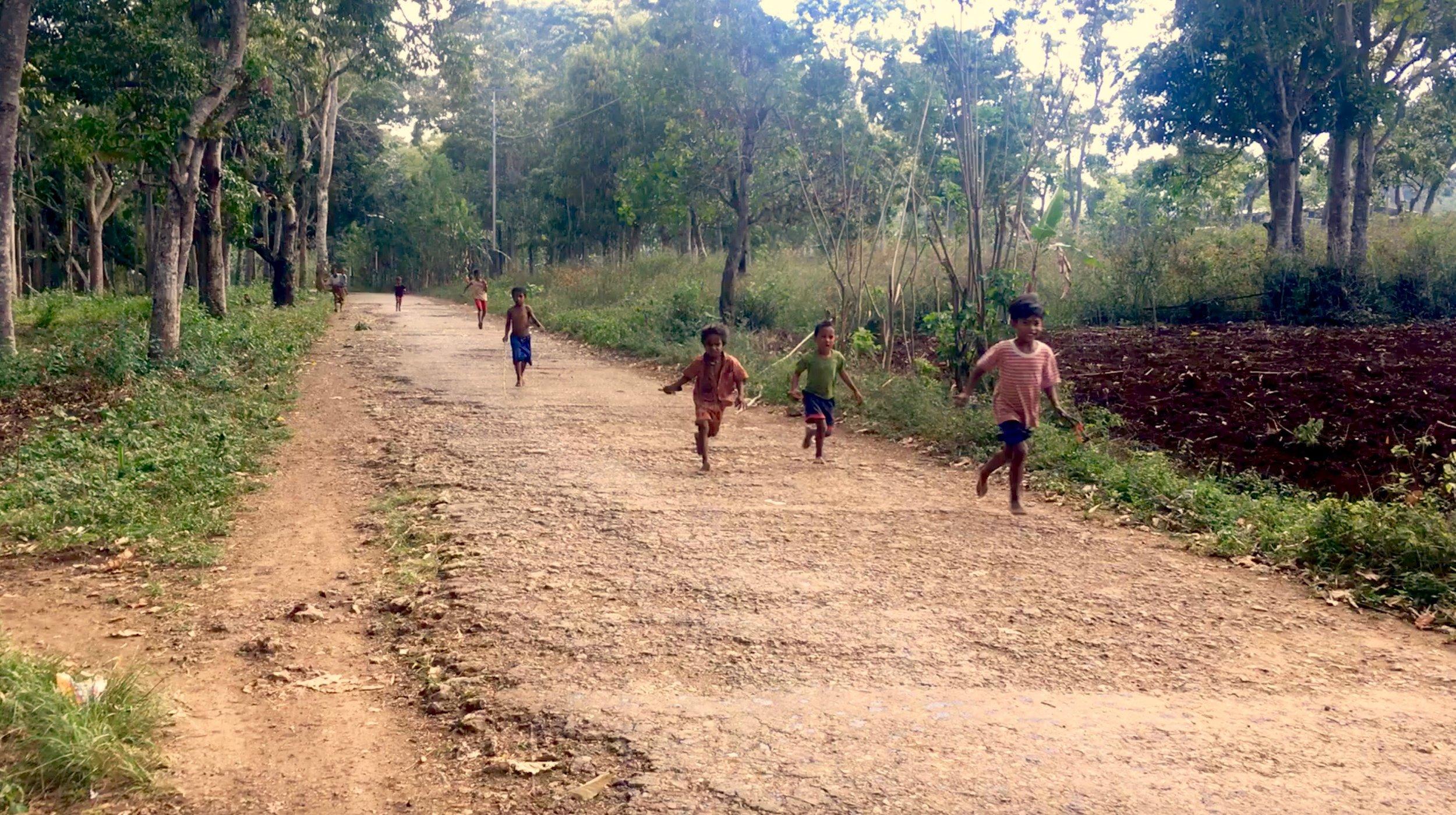 Young children in the village of Triloka, Timor-Leste photo by Davar Ardalan