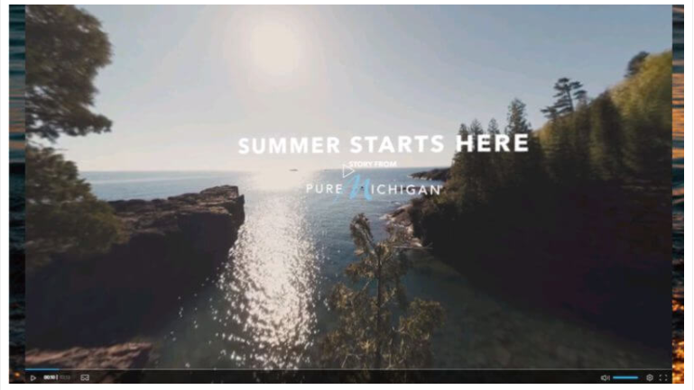 USA Today Network's in-house studio, GET Creative, developed 360-degree/virtual reality branded content for Pure Michigan promoting travel and tourism to the state.