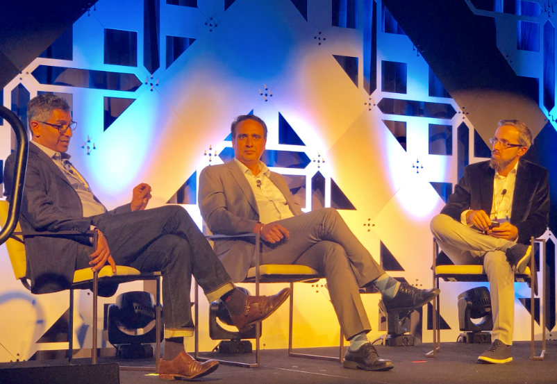 Amar Dhaliwal, Atheer; Parm Sandhu, Telus, and Kris Kolo, executive director of the VR/AR Association