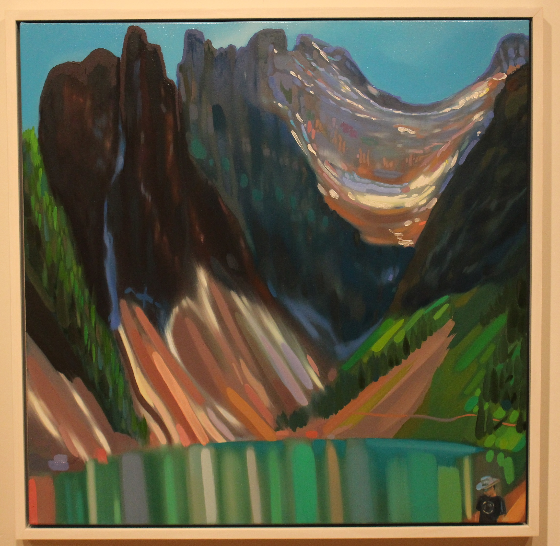 Weaving around the Jade Mirror of Lake Agnes, Canada , 2016, oil on canvas, 36 x 36 inches  (inquire)