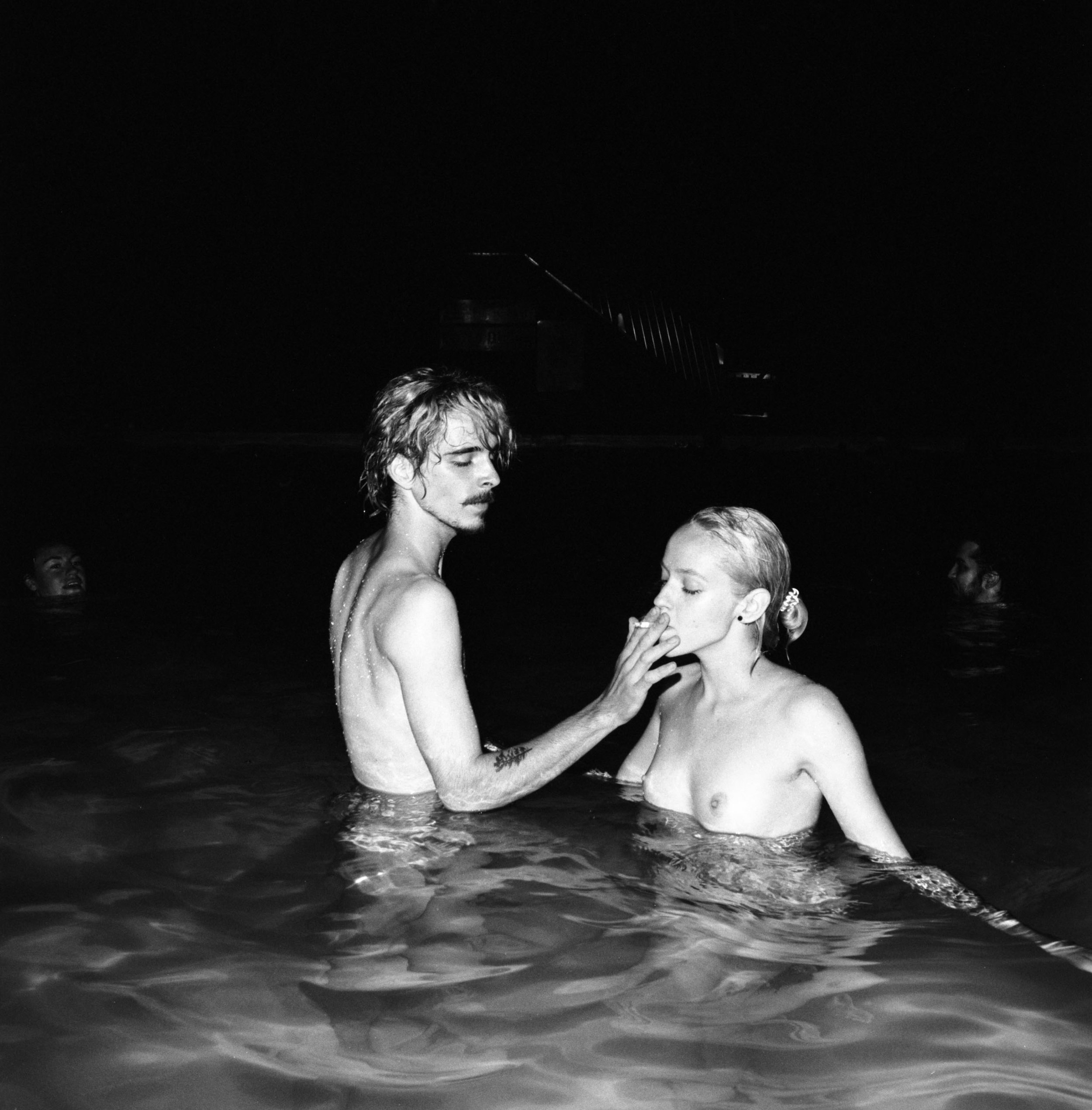 Sharing a Smoke, Riverdale Pool, Toronto , 2017, gelatin silver print, 28 x 28 inches, edition of 10  (inquire)