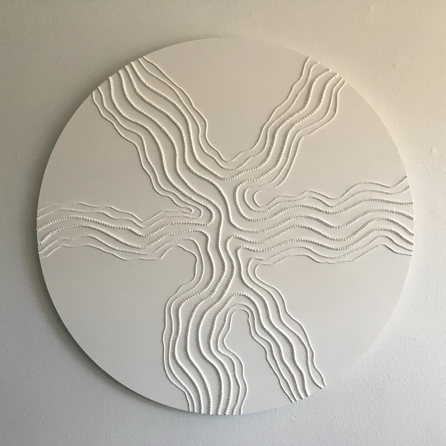 Peak , 2016, acrylic on wood, diameter: 48 inches  (inquire)