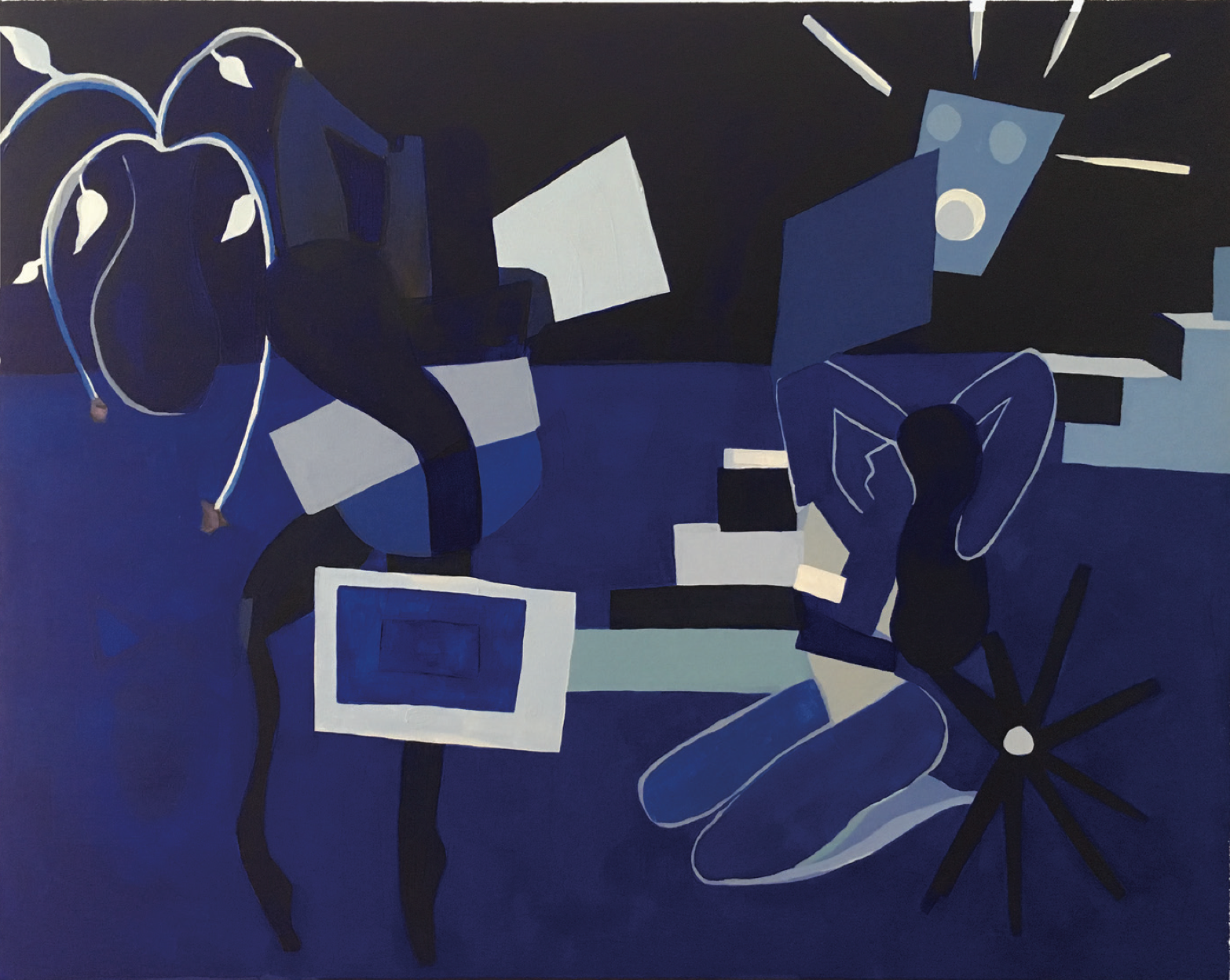 Franziska Barczyk,  Nights , 2018, acrylic on canvas, 36 x 48 inches  (inquire)