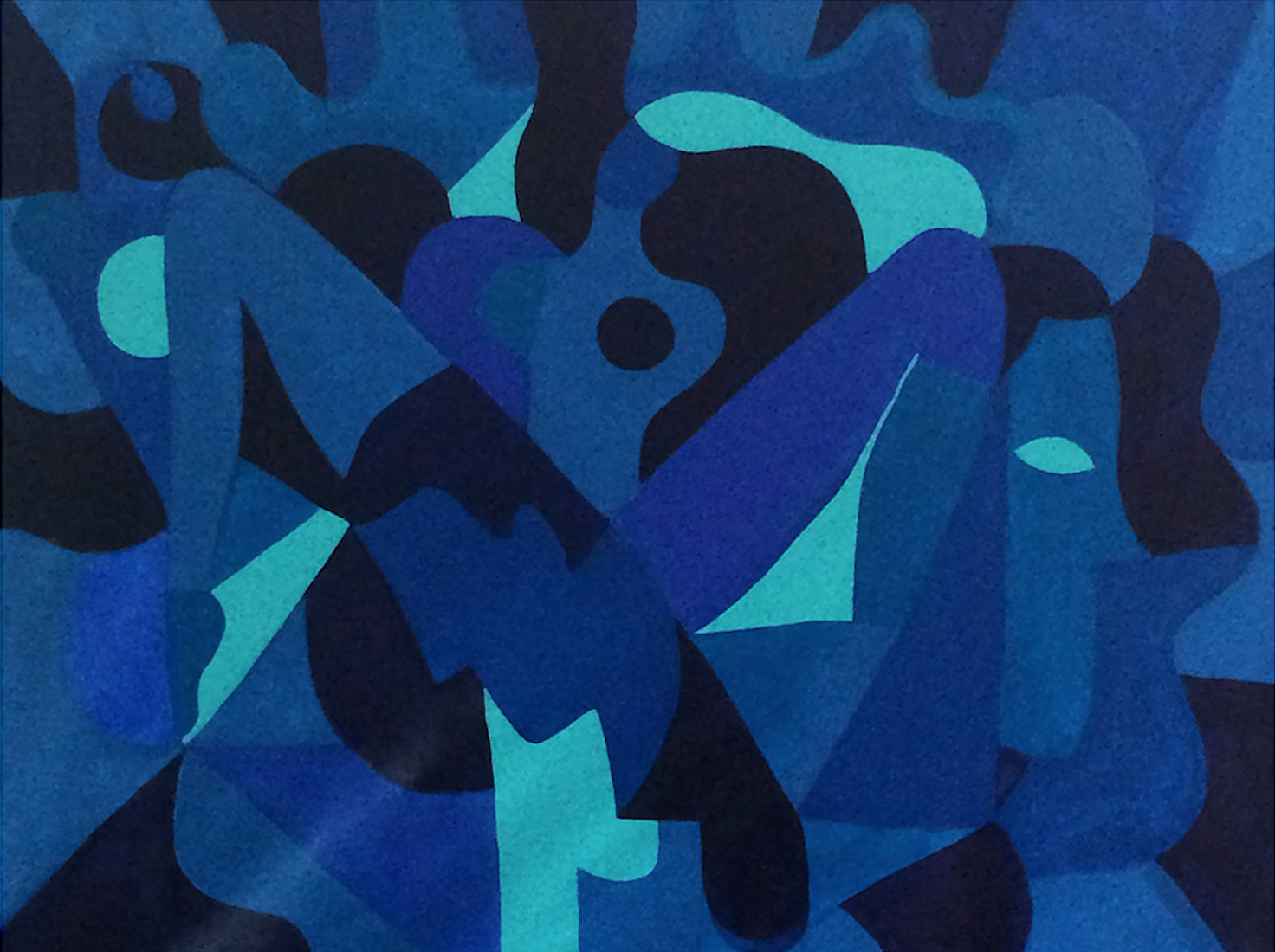 Hanna Barczyk,  Blue Tango , 2018, acrylic on canvas, 36 x 48 inches  (inquire)