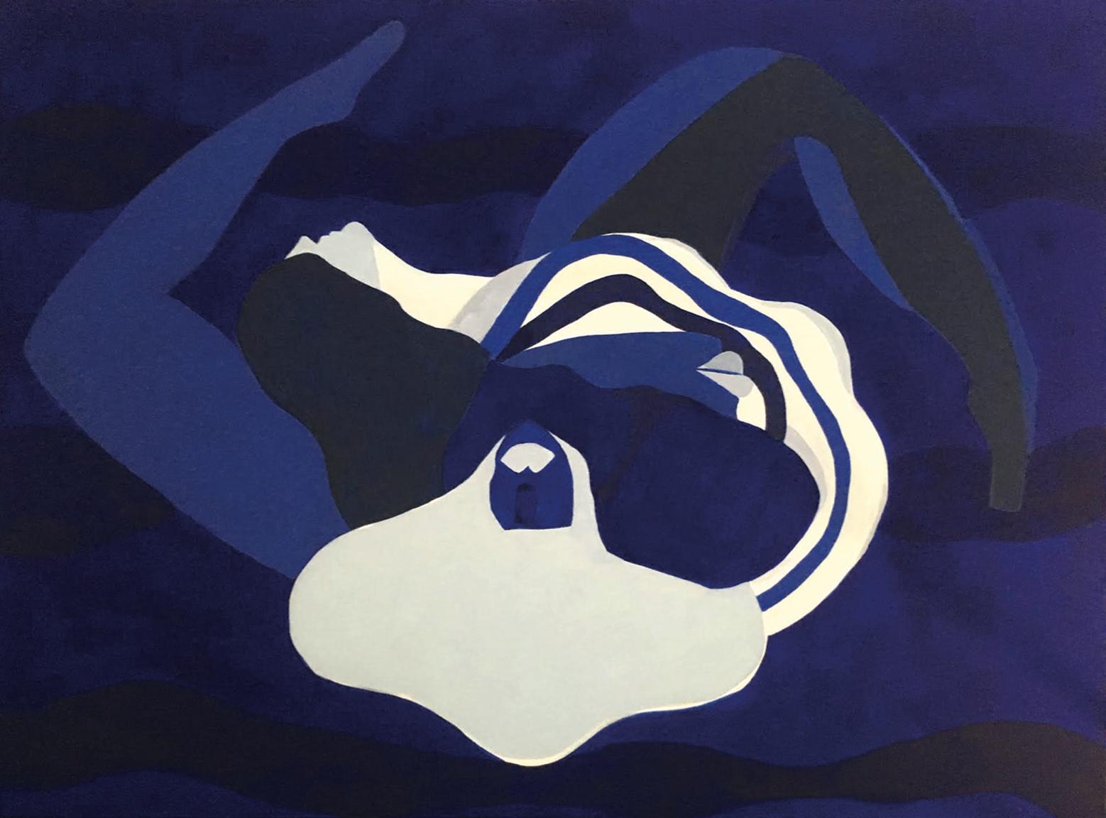 Franziska Barczyk,  Continuation , 2018, acrylic on canvas, 36 x 48 inches  (inquire)