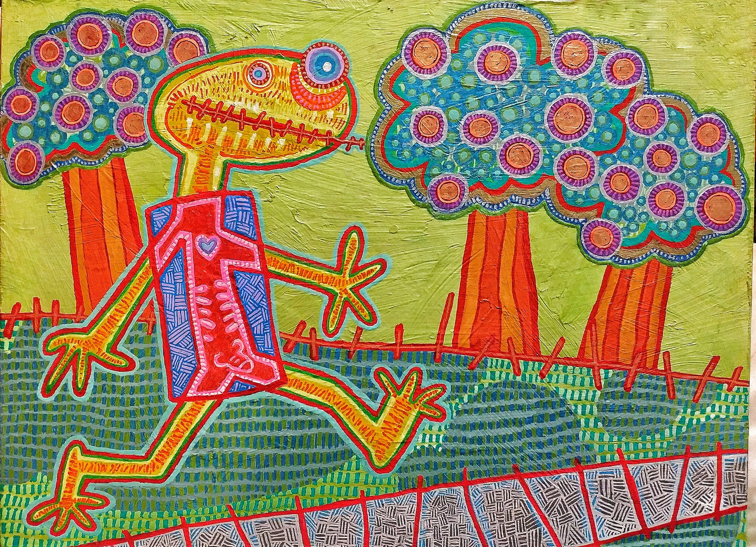 Neked in the Park - 9 x 12 -acrylic on panel 2019.jpeg