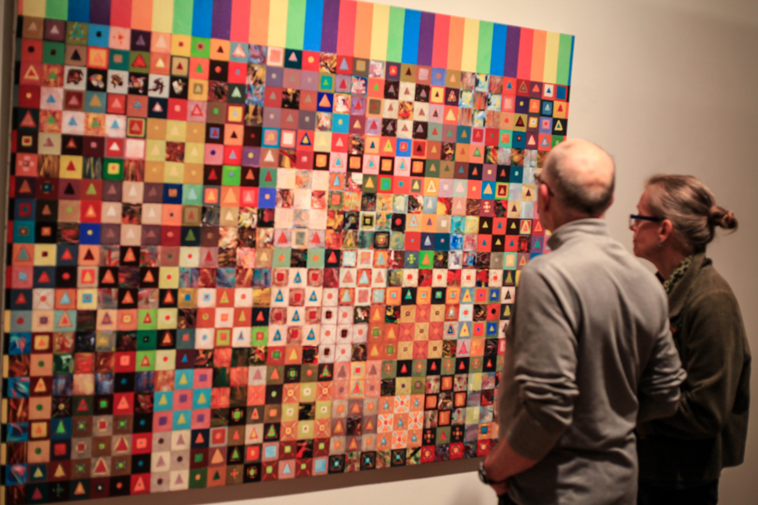 Quilt , 1994, Acrylic on Canvas, 50 x 65 inches  (inquire)