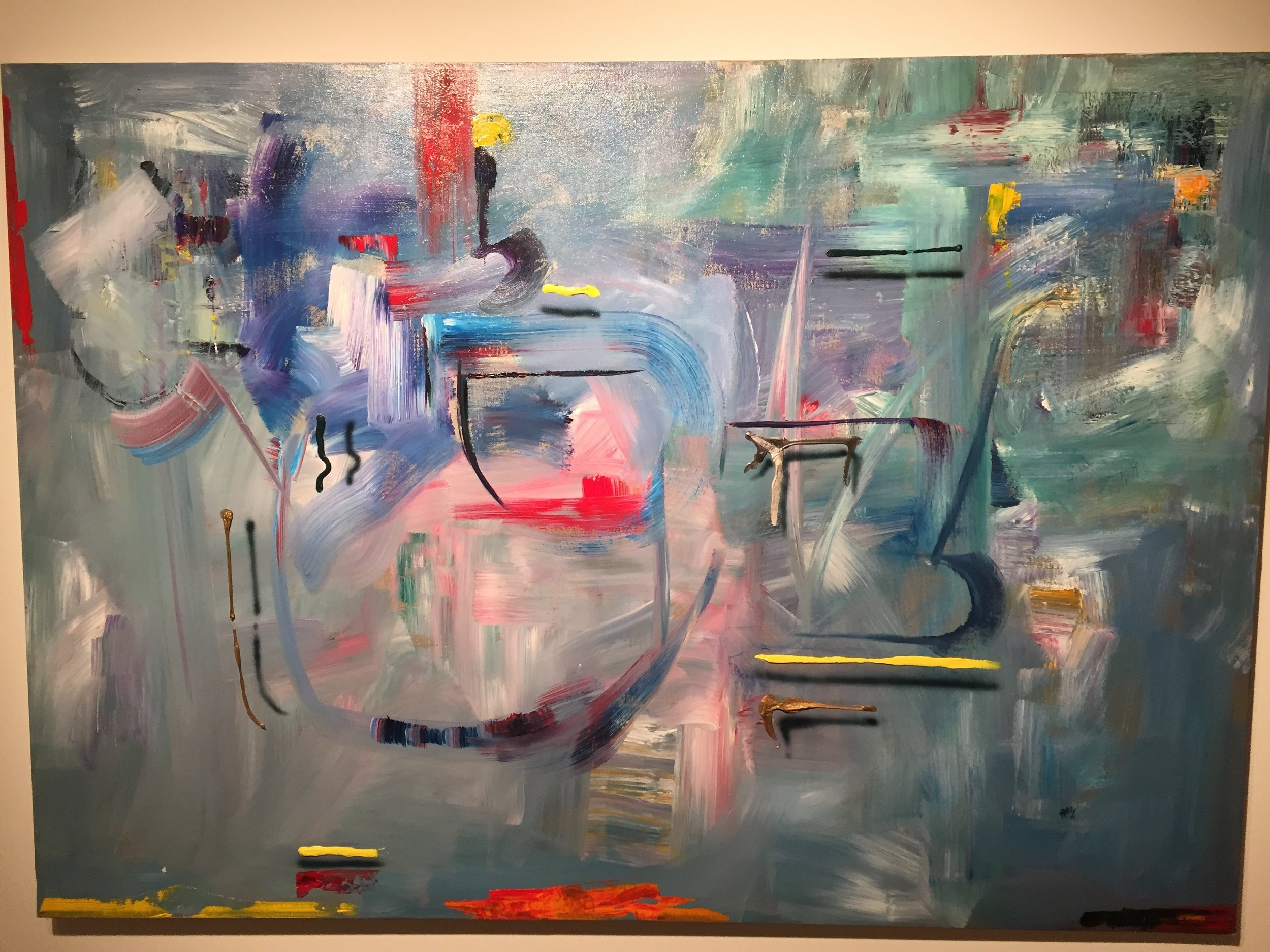 Azure Evening , 1991, Acrylic on Canvas, 42 x 60 inches  (inquire)