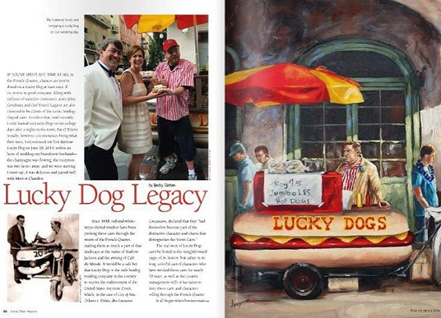A big @luckydogsnola thank you to @inside_new_orleans for the yummy spread on #neworleans signature #hotdog ! #hotdogs #shoutout #food #Nola #legacy #frenchquarter #eats #foodcart #foodie #louisiana #southernliving #tradition