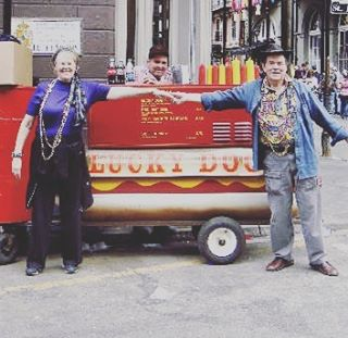 We love sharing @luckydogsnola memories! Remember to tag us! ❤️🌭❤️🌭❤️🌭! #Nola #neworleans #frenchquarter #tradition #neworleanstradition #food #foodcart #confederacyofdunces #luckydognola #foodie #hotdog #hotdogs