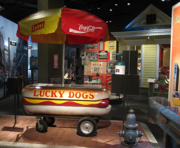 A Lucky Dog Cart in the Louisiana State Museum in Baton Rouge