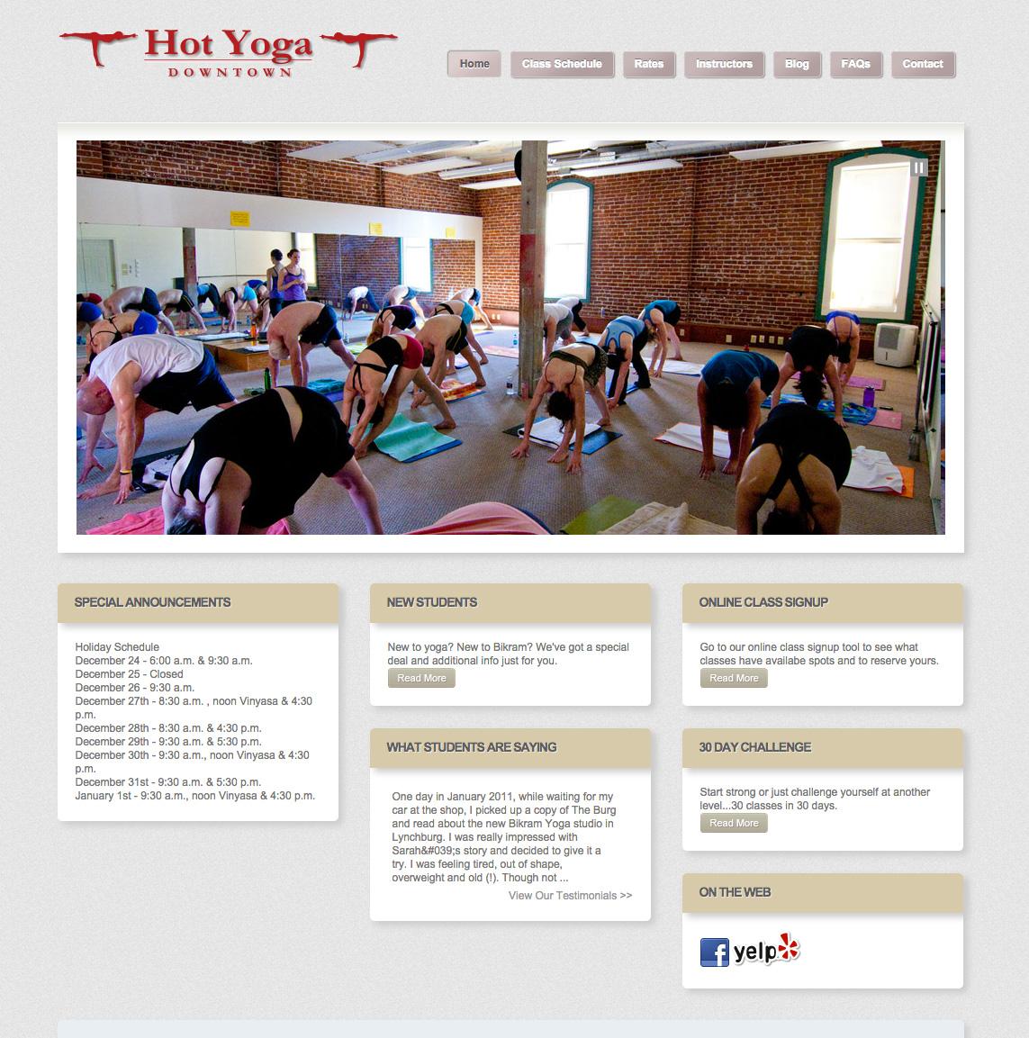 Homepage (Before)