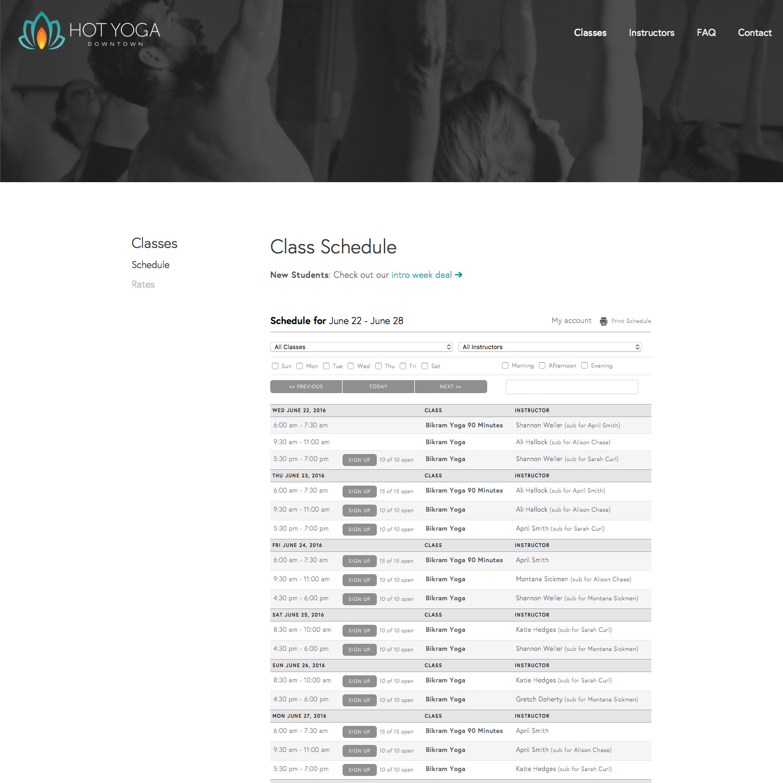 Schedule (After)